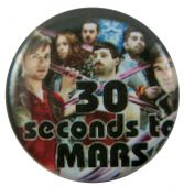30 Seconds to Mars - 'Group Collage' Button Badge